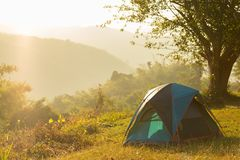 Camping point at morning, Concept Holliday. Beautiful view of Camping point at morning, Concept Holliday Stock Images