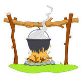 Camping pot Stock Image