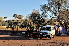 Camping at the Quiver Tree Forest, Namibia Stock Photography