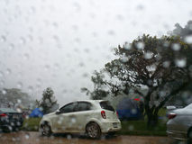 Camping in the rain Stock Photography