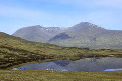 Camping rannoch moor scottish highlands Royalty Free Stock Images