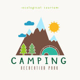 Camping Recreation Park Simple Label Stock Photos