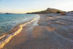 Camping on a remote beach of the Sea of Cortez in Mexico Royalty Free Stock Photography