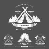 Camping  retro vector logo Stock Photography