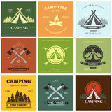 Camping  retro vector logo Stock Images