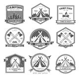 Camping  retro vector logo Royalty Free Stock Photo