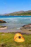 Camping in Ring of Kerry coast Royalty Free Stock Photos
