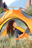 Camping In the Rocky Mountains Stock Image
