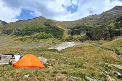 Camping in Romania Royalty Free Stock Photos