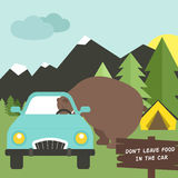 Camping Rules Royalty Free Stock Photography