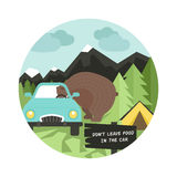 Camping Rules Royalty Free Stock Images