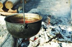 Camping scene Royalty Free Stock Images