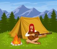 Camping Scene stock illustration