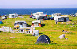Camping at sea coast Royalty Free Stock Photo