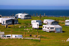Camping at sea coast Stock Image