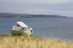 Camping at seaside Royalty Free Stock Photography