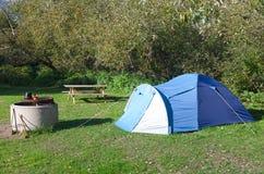 Camping season Stock Photo