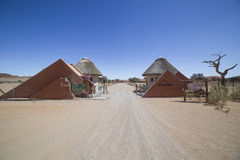 Camping Sesriem entrance, Namibia Royalty Free Stock Photos