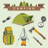 Camping set Royalty Free Stock Photography