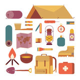 Camping set icon Royalty Free Stock Photography