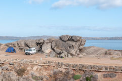Camping on Shark Island in Luderitz Royalty Free Stock Photo