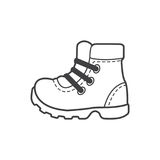 Camping shoes icon, hikking shoes Royalty Free Stock Photography