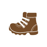 Camping shoes icon Stock Photography