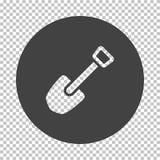 Camping shovel icon. Subtract stencil design on tranparency grid. Vector illustration stock illustration