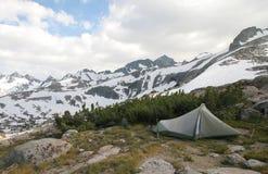 Camping, Sierra Nevada stock photography