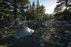 Camping in the Sierra Nevada Mountains Stock Photography