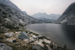 Camping in the Sierra Nevada Mountains Royalty Free Stock Photo