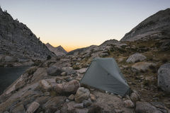 Camping in the Sierra Nevada Mountains Royalty Free Stock Images