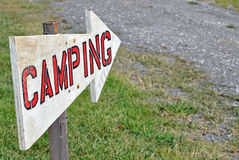 Camping Sign Royalty Free Stock Photo