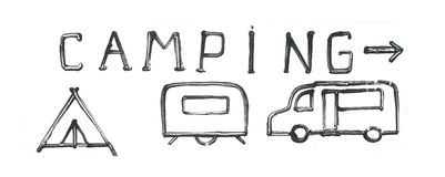 Camping Sign Royalty Free Stock Photography