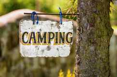 Camping Sign Royalty Free Stock Photos