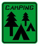Camping sign Royalty Free Stock Images