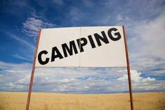 Camping signboard Royalty Free Stock Photos
