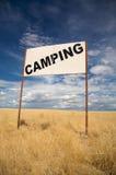 Camping signboard Stock Photo