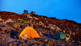 Camping site. On the mountain ridge Stock Images
