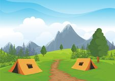 Camping Site with beautiful nature landscape