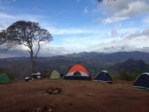 Camping site in Campana. Camping site on a mountain in Campana, Panama royalty free stock image