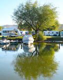 Camping site, Italy Stock Photo