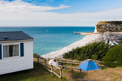Camping site on the North sea Royalty Free Stock Photography