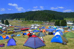 Camping site Rozhen Fair ,Bulgaria Royalty Free Stock Images
