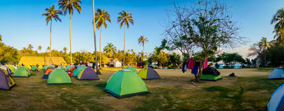 Camping site in Tayrona National Park, Colombia Stock Images
