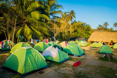 Camping site in Tayrona National Park, Colombia Royalty Free Stock Photo