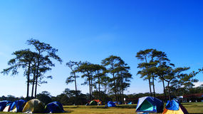 Camping in the  sky Stock Photo