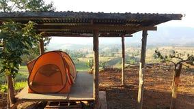Camping solitaire Images libres de droits