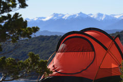 Camping in South America Stock Image