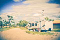 Camping in South Dakota Stock Photo